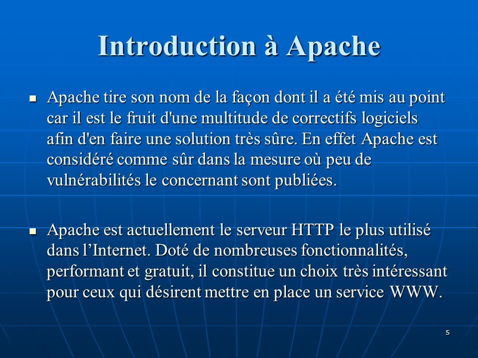 Introduction à Apache