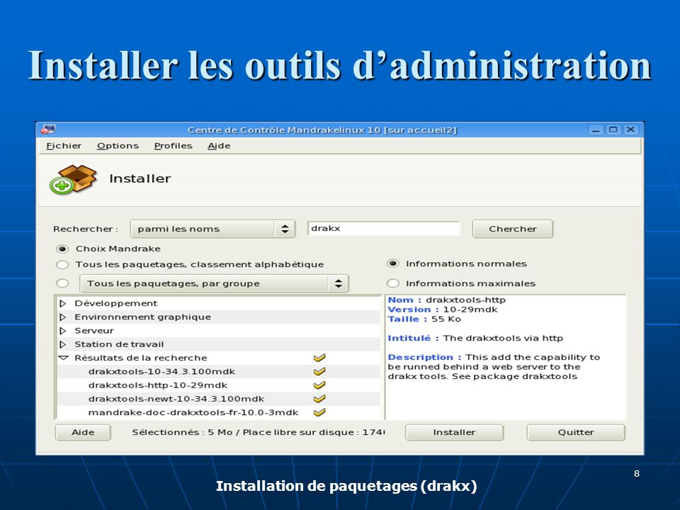 Installer les outils d'administration
