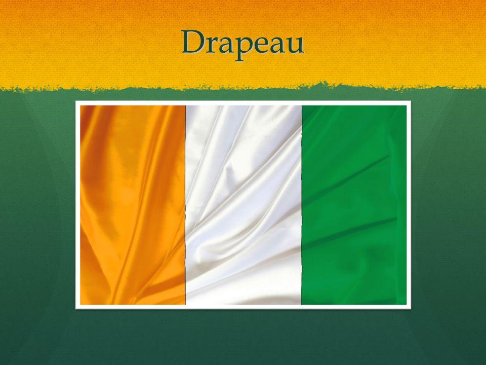 Drapeau Orange, Blanc, Vert