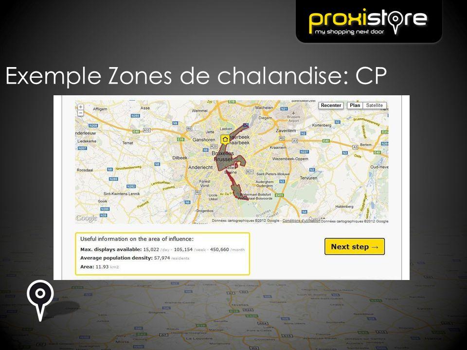 Exemple Zones de chalandise: CP