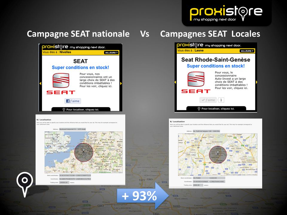 Campagne SEAT nationale Vs Campagnes SEAT Locales