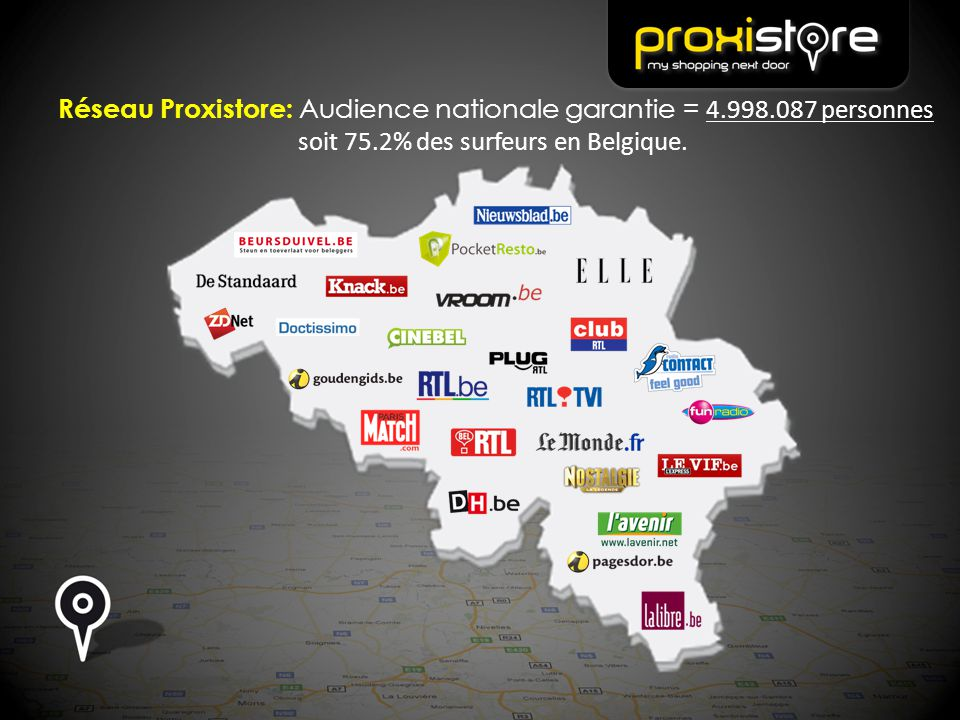 Réseau Proxistore: Audience nationale garantie = 4.998.087 personnes