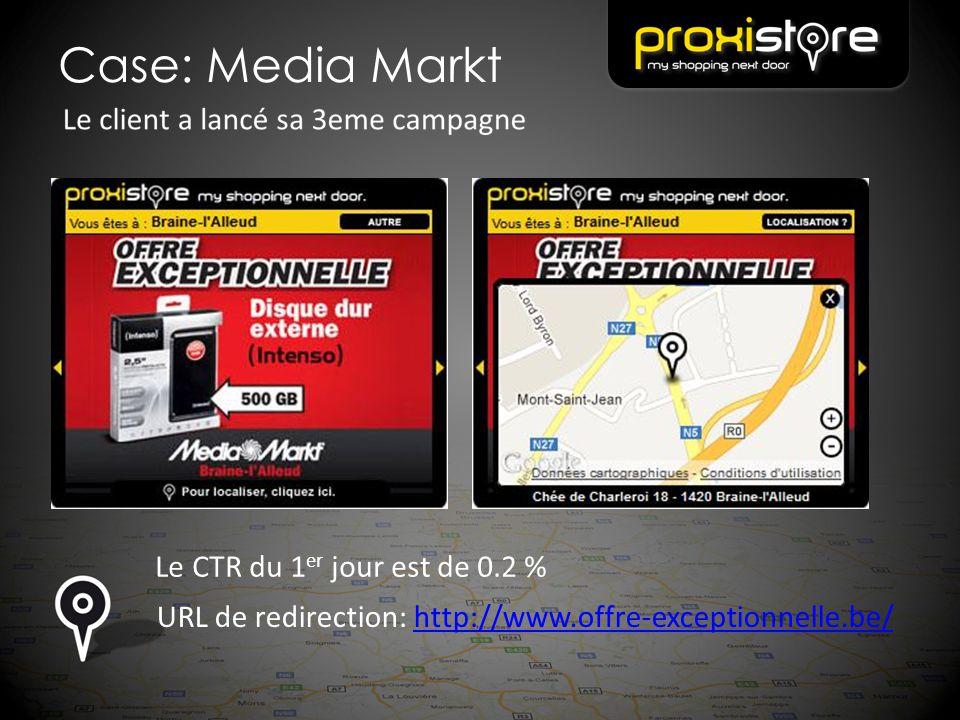 Case: Media Markt Le CTR du 1er jour est de 0.2 %