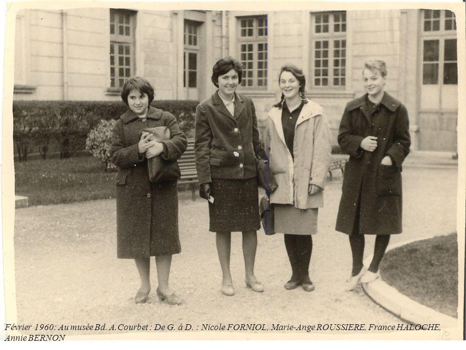 Février 1960: Au musée Bd. A. Courbet : De G. à D
