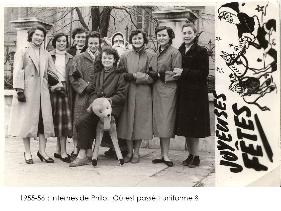 1955-56 : Internes de Philo.. Où est passé l'uniforme