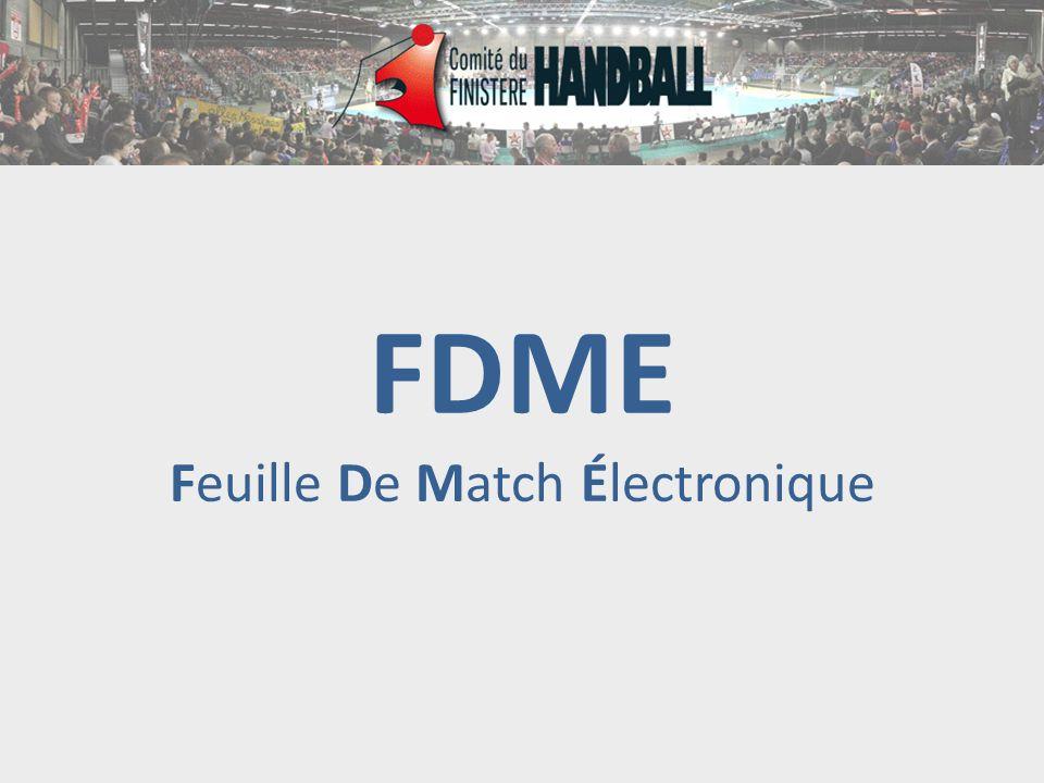 FDME Feuille De Match Électronique