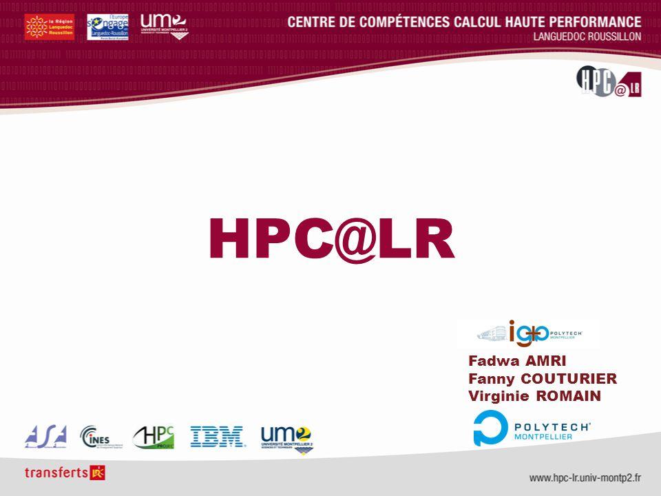 HPC@LR Fadwa AMRI Fanny COUTURIER Virginie ROMAIN
