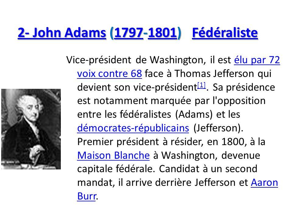2- John Adams (1797-1801) Fédéraliste