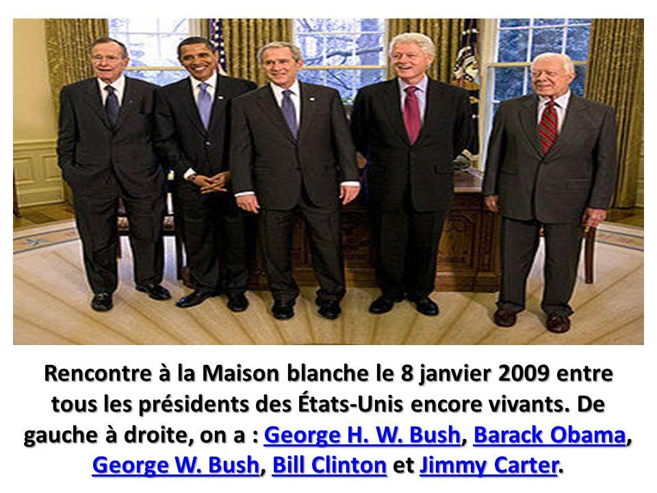 Rencontre à la Maison blanche le 8 janvier 2009 entre tous les présidents des États-Unis encore vivants.