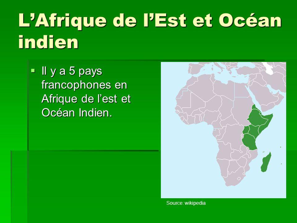 L'Afrique de l'Est et Océan indien