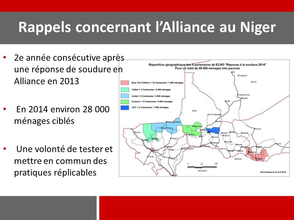 Rappels concernant l'Alliance au Niger