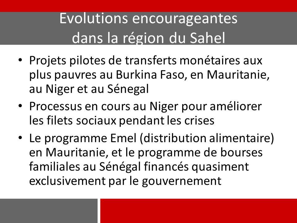Evolutions encourageantes dans la région du Sahel