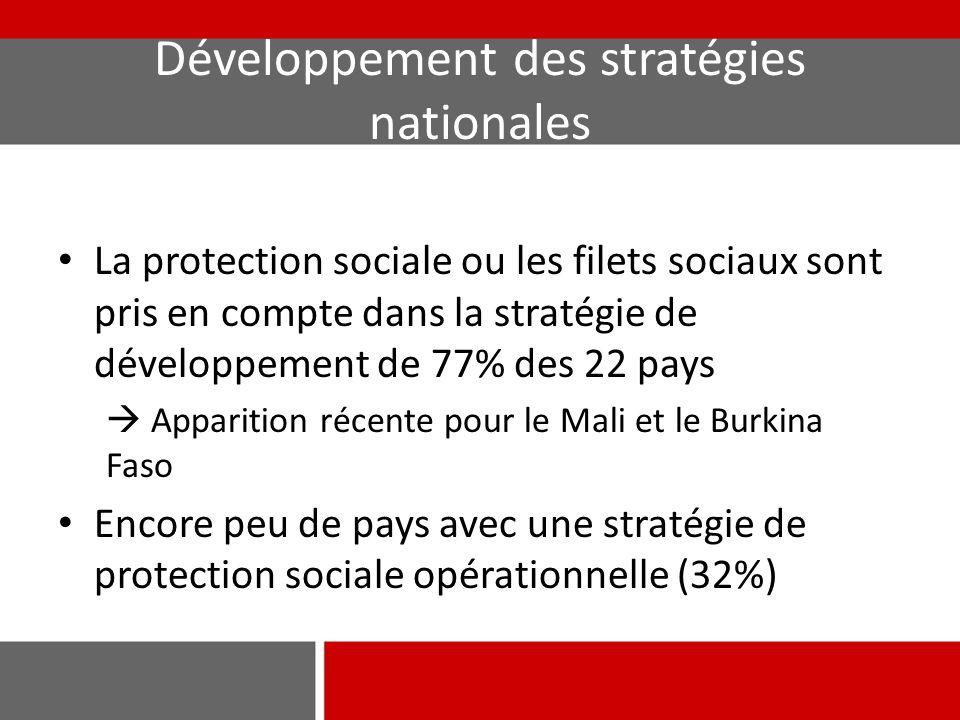 Développement des stratégies nationales