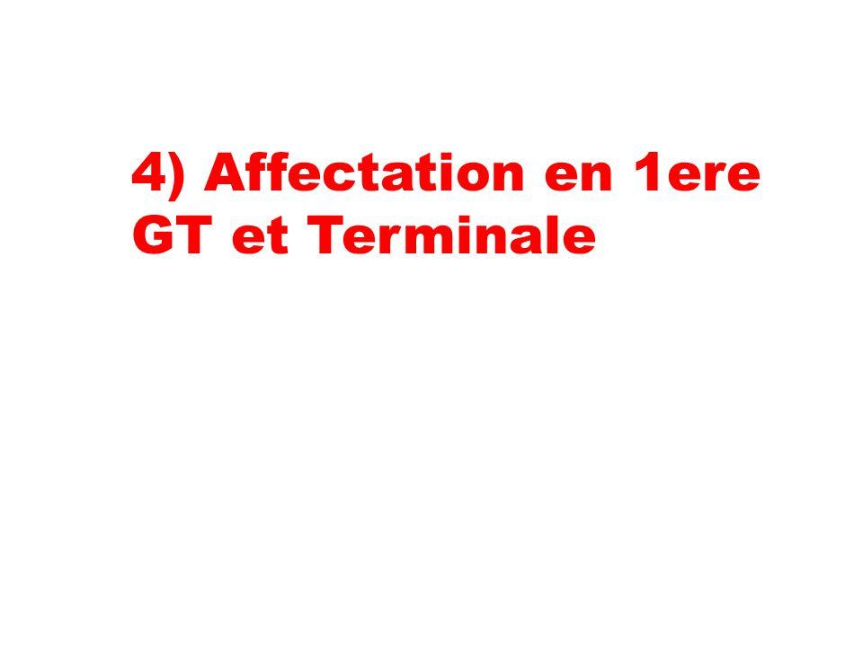 4) Affectation en 1ere GT et Terminale