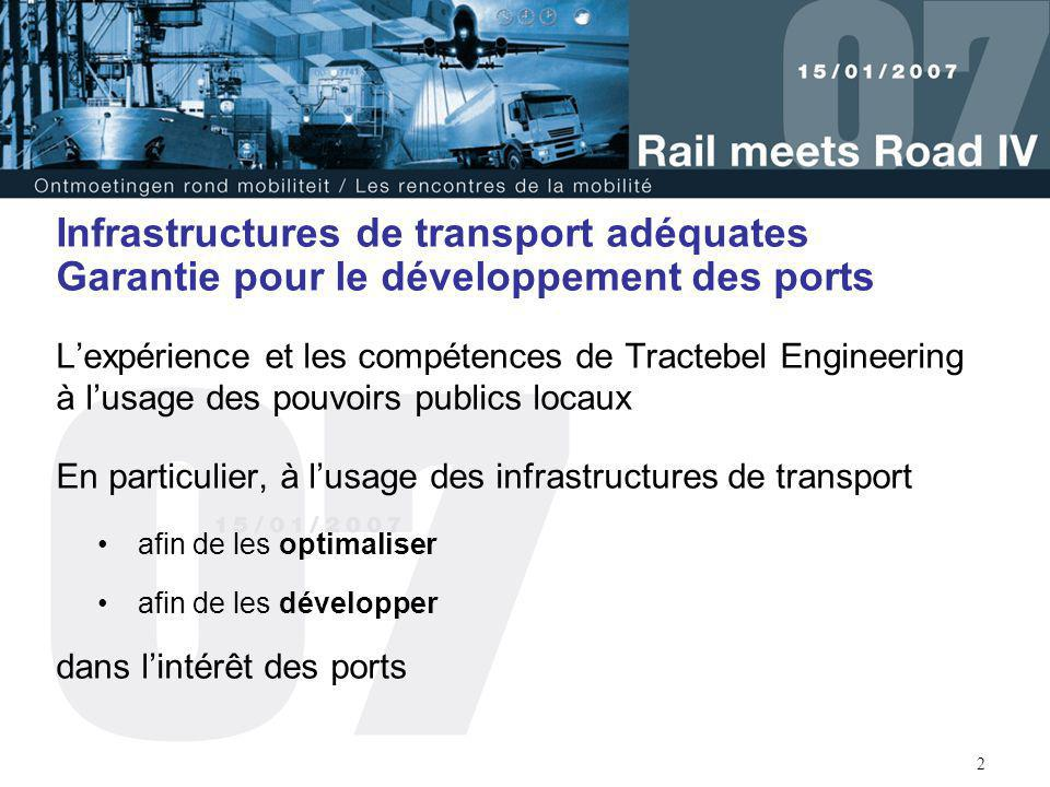 Infrastructures de transport adéquates