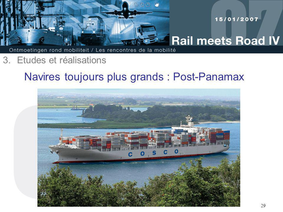 Navires toujours plus grands : Post-Panamax