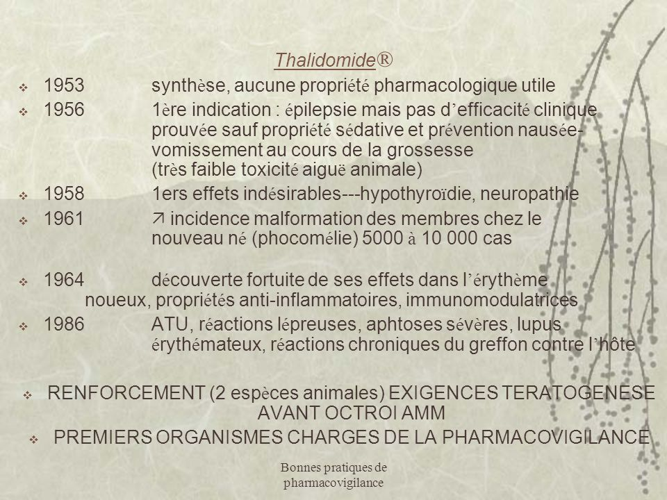 1953 synthèse, aucune propriété pharmacologique utile