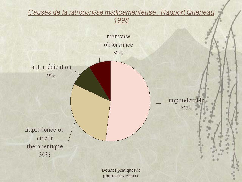 Causes de la iatrogénèse médicamenteuse : Rapport Queneau 1998