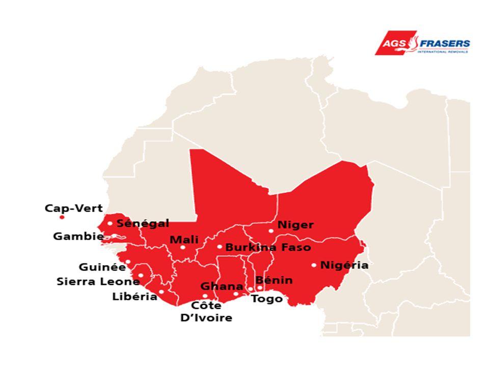 Les quinze pays qui constituent l' Afrique de l'ouest