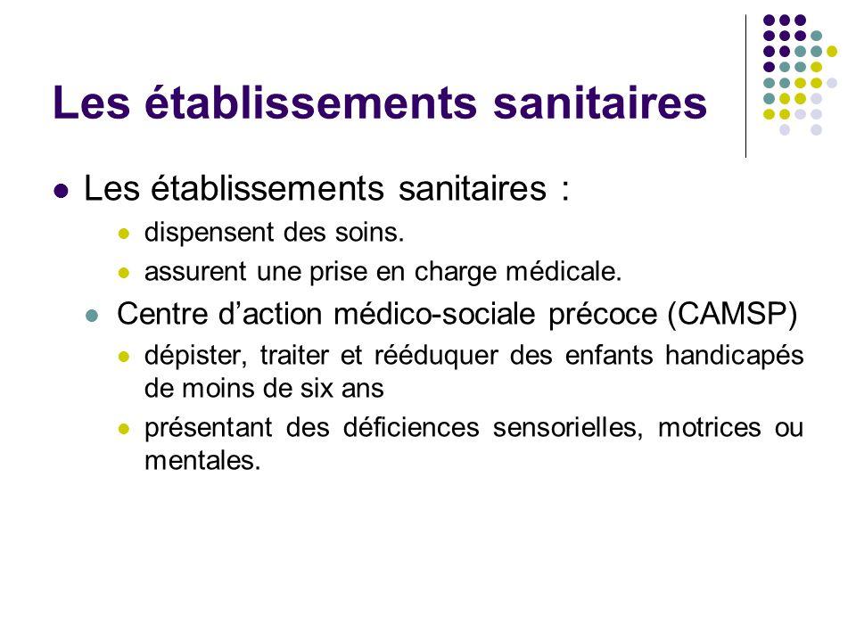 Les établissements sanitaires