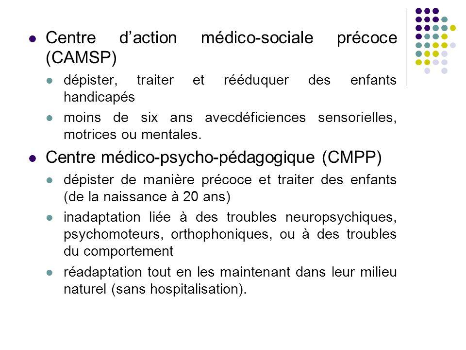 Centre d'action médico-sociale précoce (CAMSP)