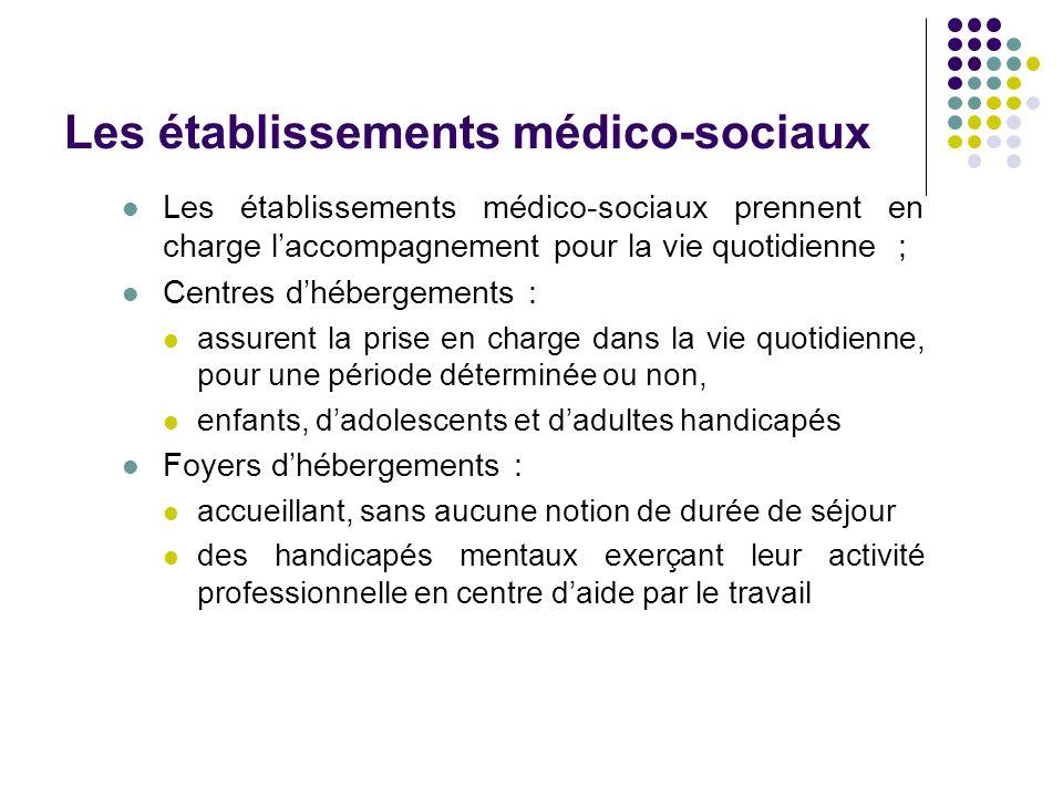Les établissements médico-sociaux