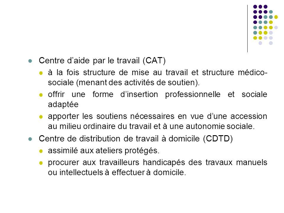 Centre d'aide par le travail (CAT)