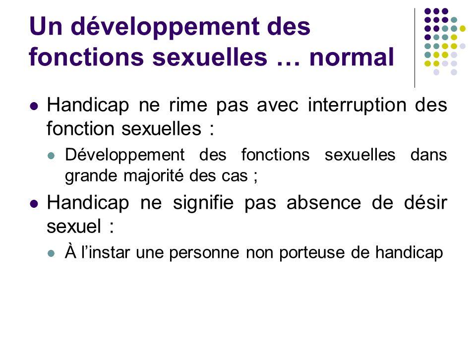 Un développement des fonctions sexuelles … normal