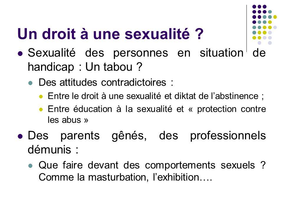 Un droit à une sexualité
