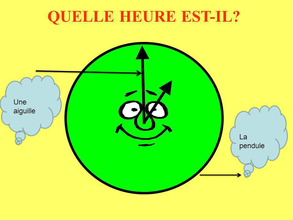 QUELLE HEURE EST-IL Une aiguille La pendule