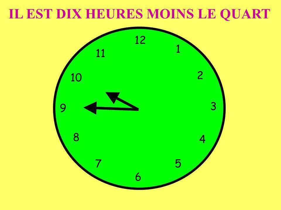 IL EST DIX HEURES MOINS LE QUART