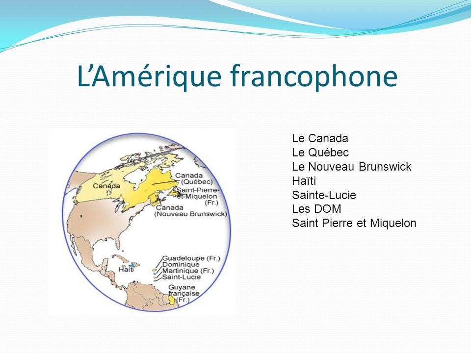 L'Amérique francophone