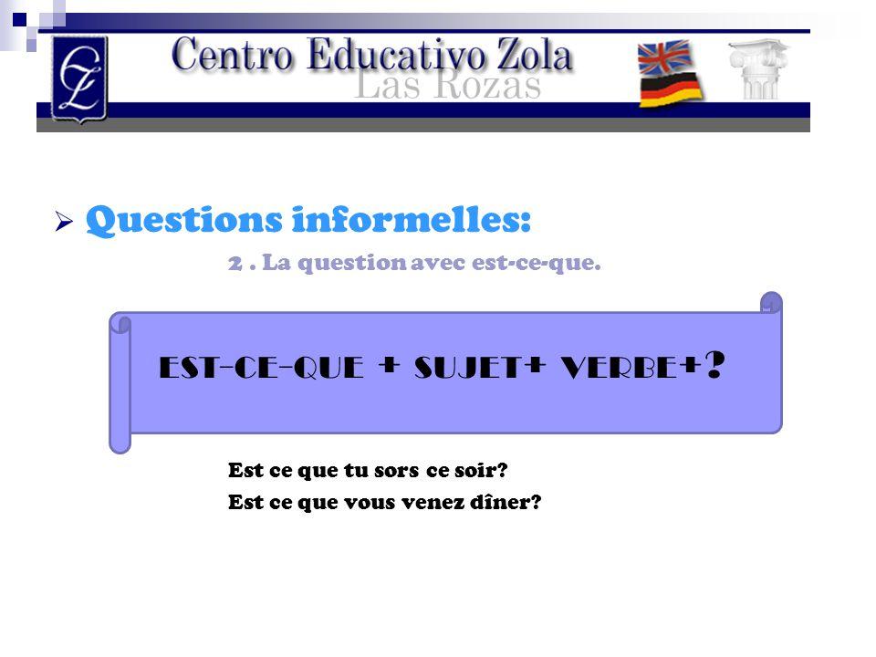 Questions informelles: