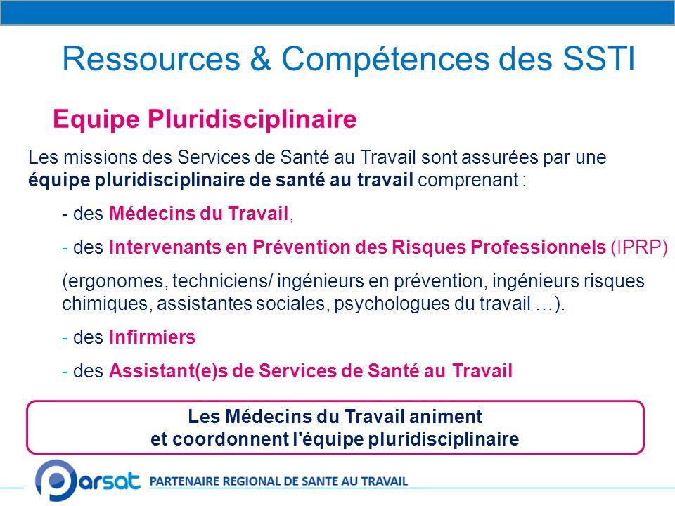 Ressources & Compétences des SSTI