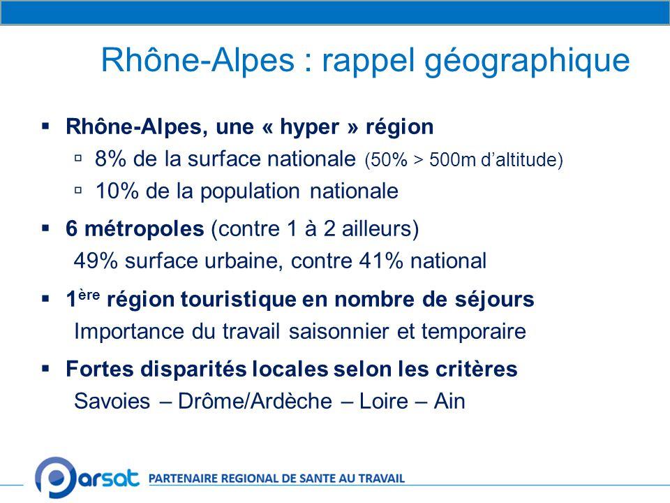 Rhône-Alpes : rappel géographique