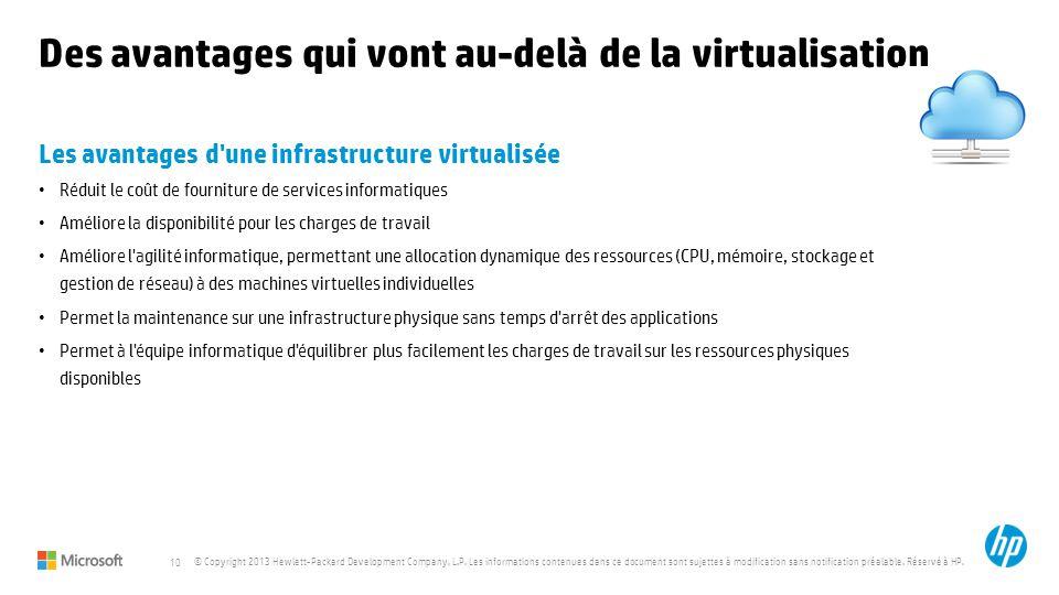 Des avantages qui vont au-delà de la virtualisation