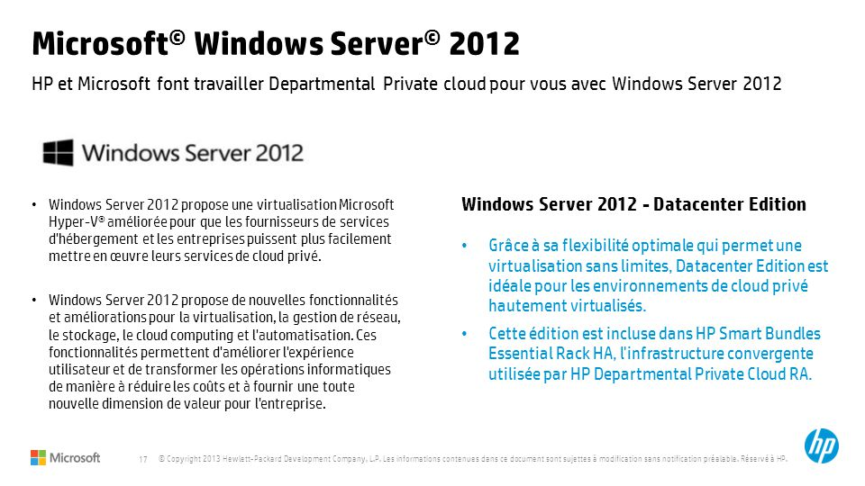 Microsoft© Windows Server© 2012