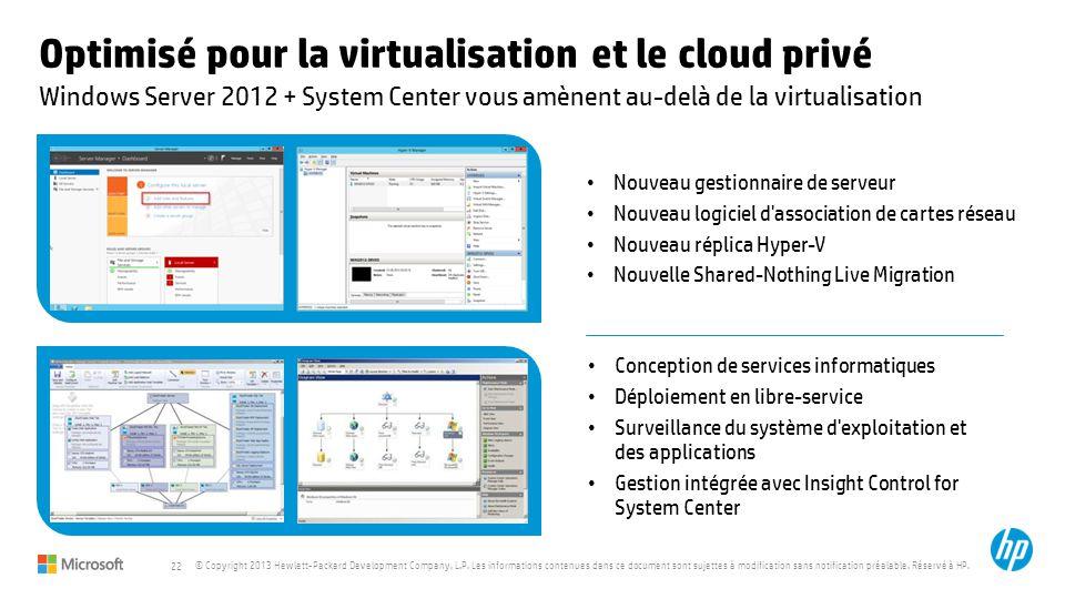 Optimisé pour la virtualisation et le cloud privé