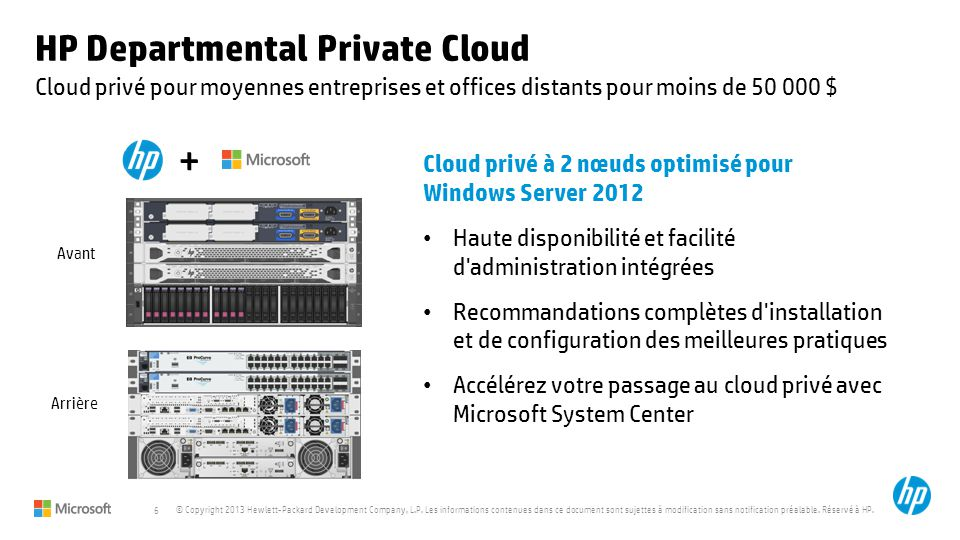 HP Departmental Private Cloud
