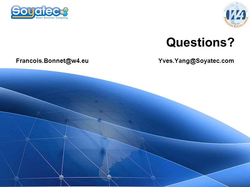 Francois.Bonnet@w4.eu Yves.Yang@Soyatec.com