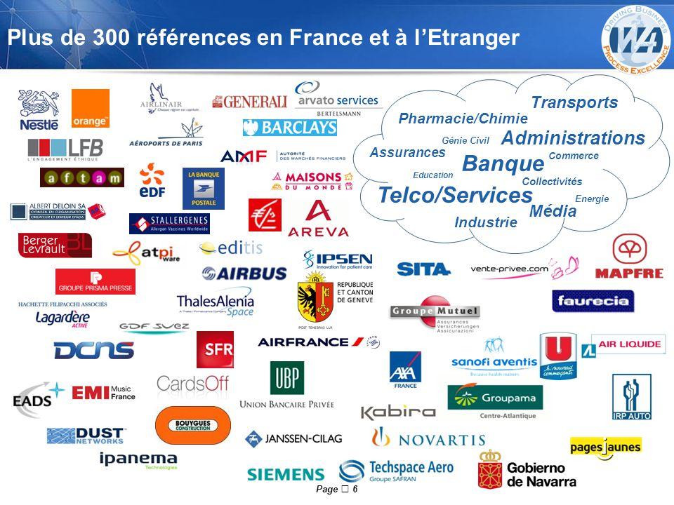 Plus de 300 références en France et à l'Etranger