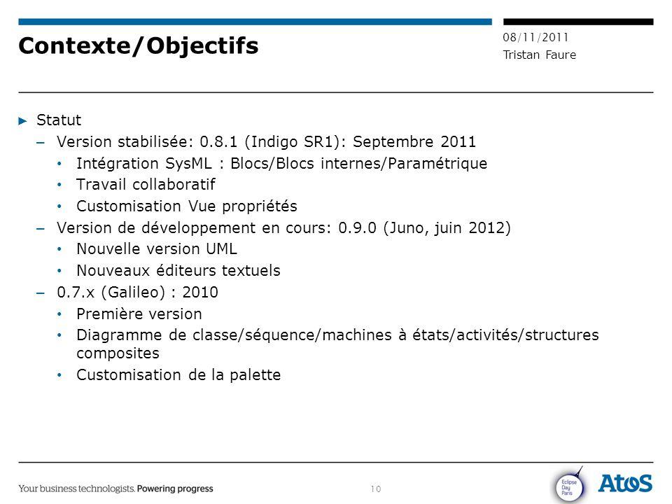 Contexte/Objectifs Statut