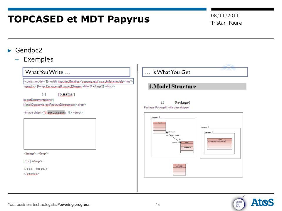 TOPCASED et MDT Papyrus