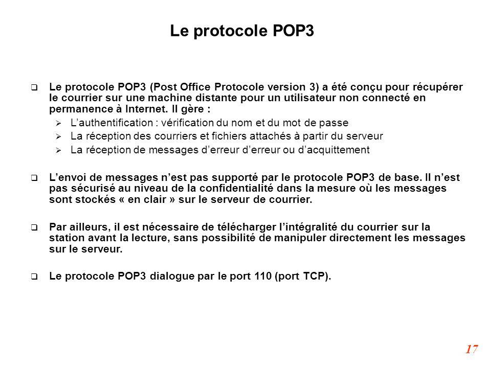 Le protocole POP3