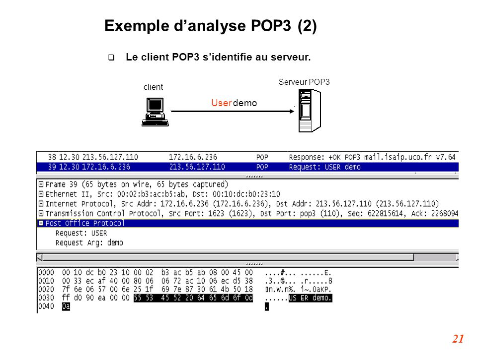 Exemple d'analyse POP3 (2)‏