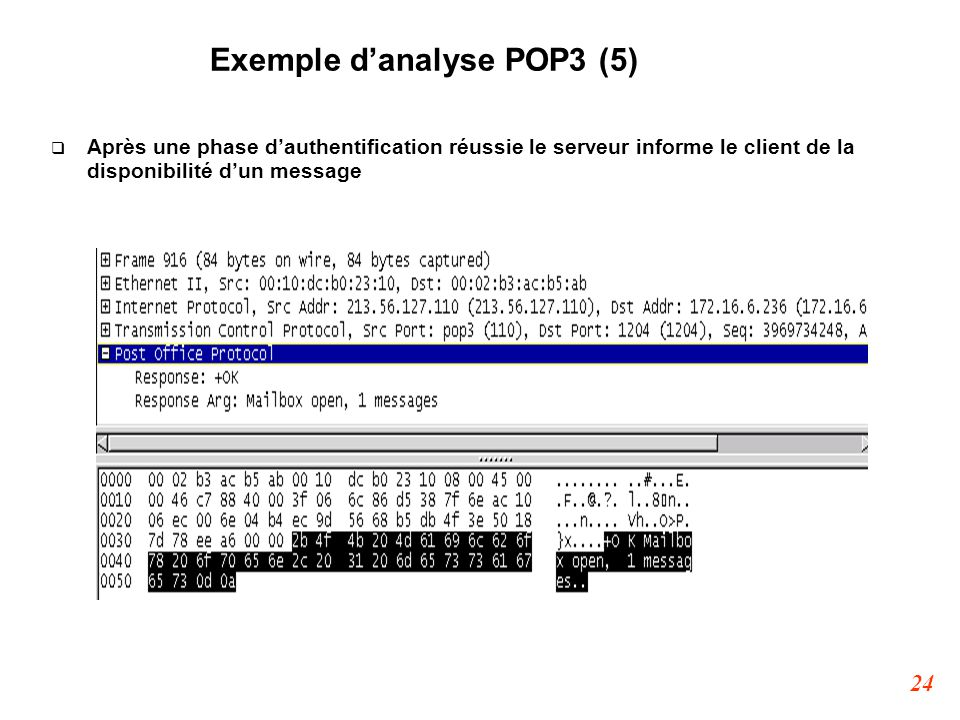Exemple d'analyse POP3 (5)‏