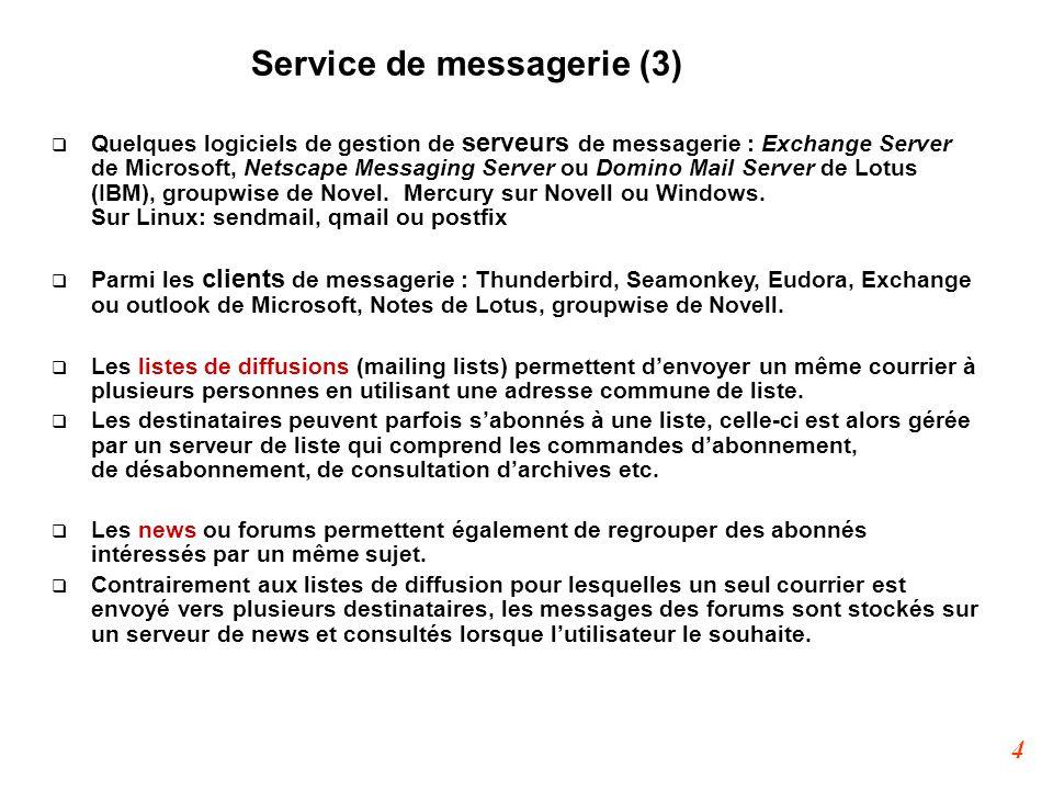 Service de messagerie (3)