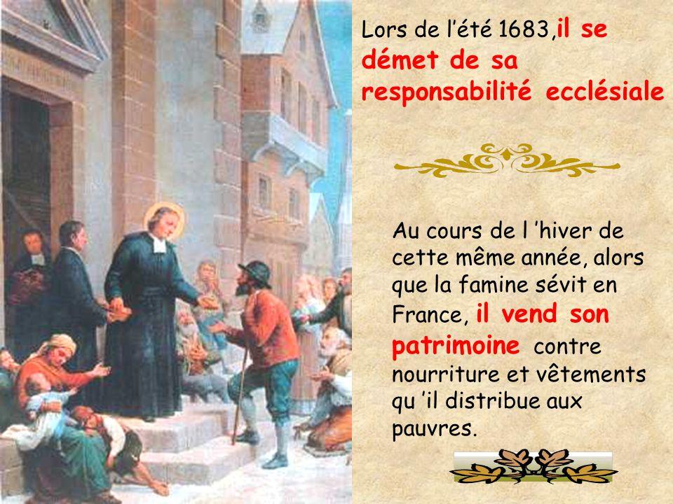 Lors de l'été 1683,il se démet de sa responsabilité ecclésiale