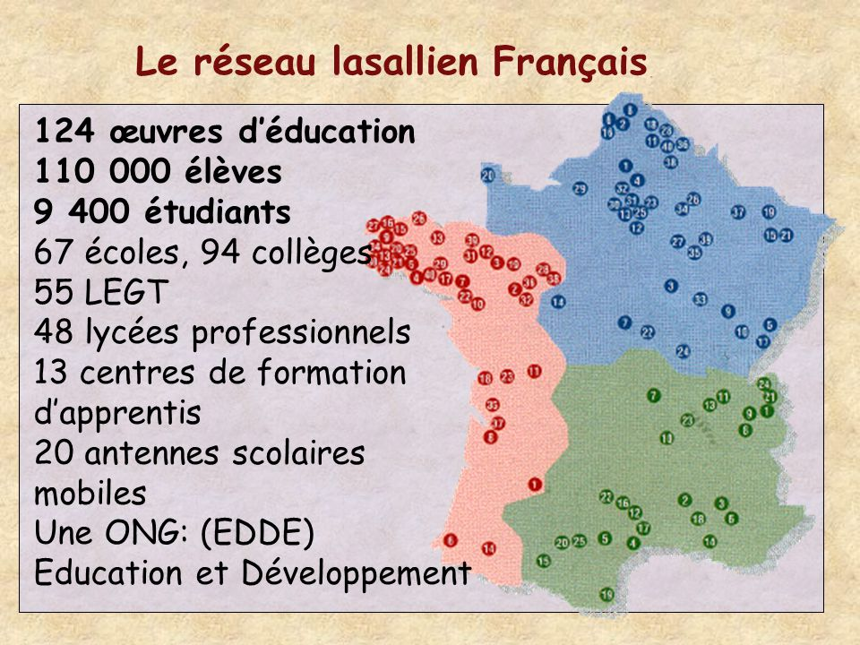 Le réseau lasallien Français