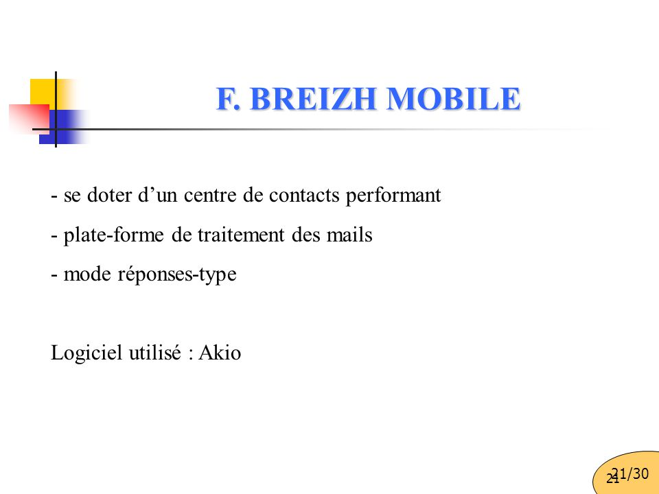 F. BREIZH MOBILE - se doter d'un centre de contacts performant